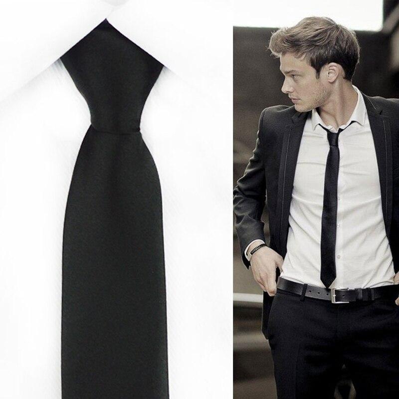 Slim Narrow Black Zipper Tie For Men 5cm Casual Arrow Skinny Red Necktie Fashion Man Accessories Simplicity For Ties Mens