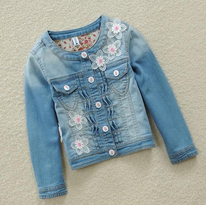 Girls denim jacket 2019 spring and autumn new children's denim jacket children's shirt