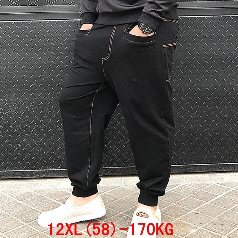 メンズビッグパンツ 170 キロプラスサイズ 11XL 12XL ルーズストレッチ大サイズ 6XL 7XL 8XL 9XL 10XL 春カジュアルパンツ黒 54 56 58  グループ上の メンズ服 からの スキニーパンツ の中 1