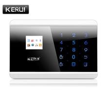 Kerui 8218g 7 strefy android ios app sterowania 433 mhz bezprzewodowy włamywacz intruder automatycznego wybierania numeru home office pir motion sensor system alarmowy