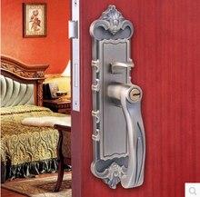 Кровать гостиная кладовая палец нажмите медь блокировка 40-50 мм дверь толщиной замок античная латунь ручка 2 защелки крытый замок