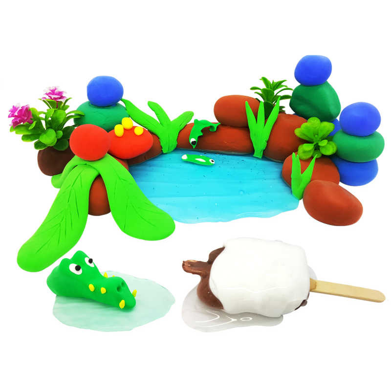 36 luz de cor argila macia diy brinquedos crianças educacional ar seco polímero plasticina seguro colorido luz argila brinquedo presente para crianças
