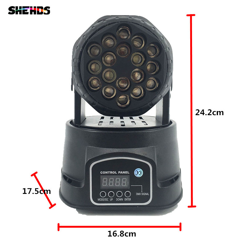 4pcs/lot LED Beam 18x3W RGB Moving Head Stage Lighting For Event,Disco Party Night Club SHEHDS DMX512 Stage Lighting fast shipping professional stage lighting led mini 18x3w wash moving head light for event disco party nightclub