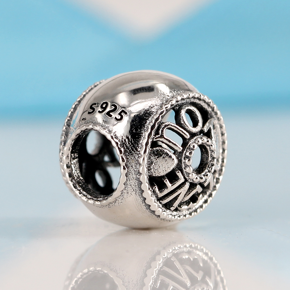 ae11bfd2c New Authentic 925 Sterling Silver Charm Bead Softball Rose Love Hollow  Charms Fit Pandora Charm Bracelets Women DIY Jewelry-in Beads from Jewelry  ...