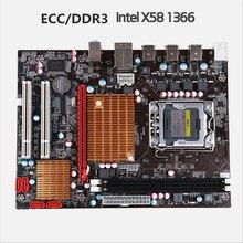 Neue X58 1366-pin LGA 1366 computer motherboard DDR3 ECC unterstützung server speicher unterstützung X5650X5675X5570