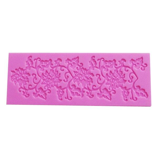 D124 vid de la Flor de silicona del molde de encaje instantánea molde de pastel