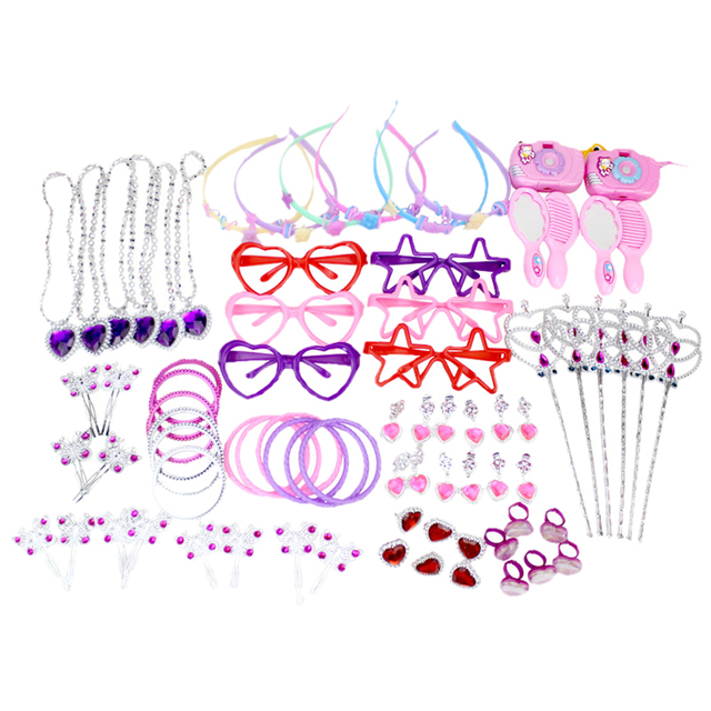 Drop Shipping 72Pcs/Set Girl Birthday Decoration Toy Set for Party Supplies  Party Holiday DIY Decorations - 12 Type Mixed