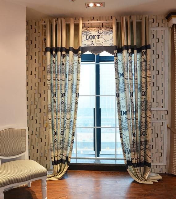 europese retro grote klok bijpassende gordijnstof gordijn schermen klassieke slaapkamer woonkamer gordijnen