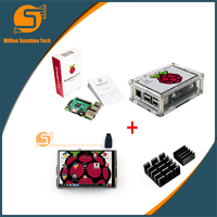 Raspberry Pi 3 Starter Kit Original Raspberry Pi 3 3 5 Inch Touchscreen Acrylic Case Heat