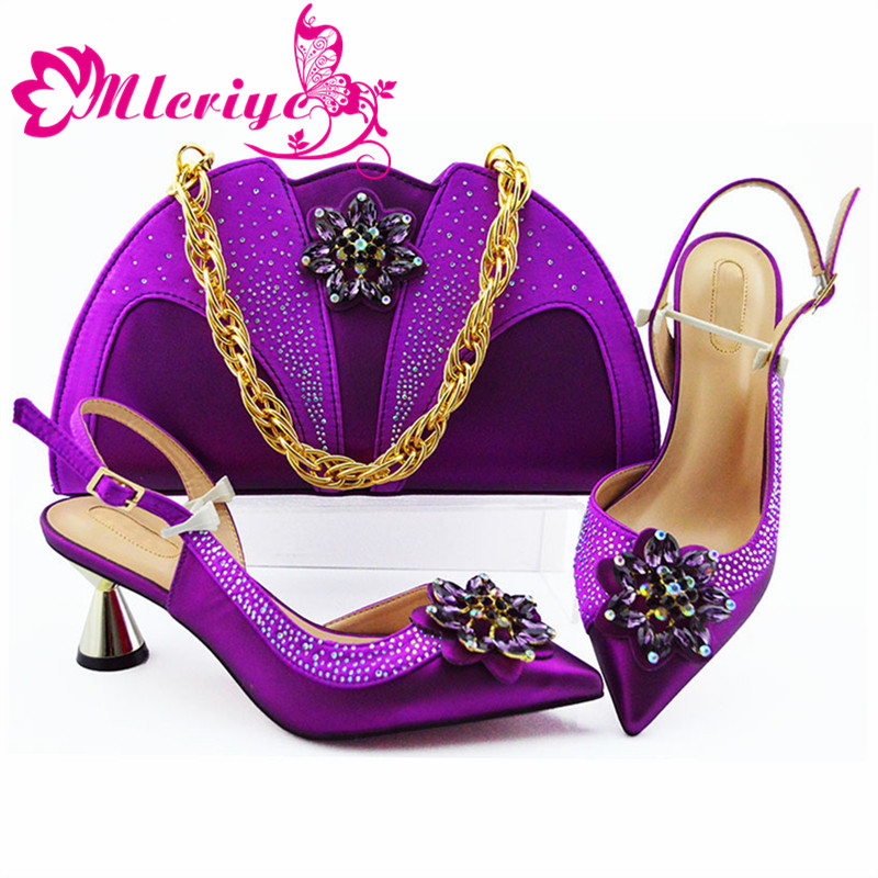 Italian Shoe with Matching Bag New Designs 2019 Purple Ladies Shoes and Bags Set Good Quality Italy Shoes and Bags Set for PartyItalian Shoe with Matching Bag New Designs 2019 Purple Ladies Shoes and Bags Set Good Quality Italy Shoes and Bags Set for Party