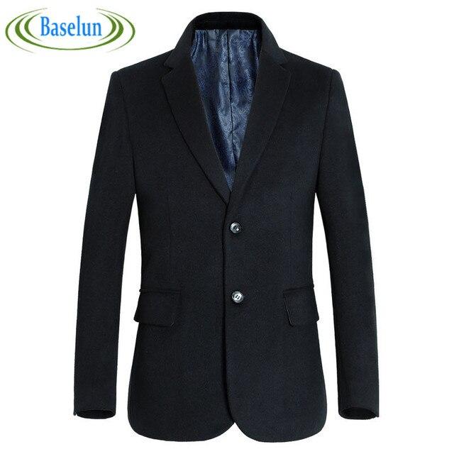 Высокое качество Осень Зима Новый Шаблон случайный Мужчина шерсть мужская вечернее платье однобортный черный серый мужской костюм куртка блейзер