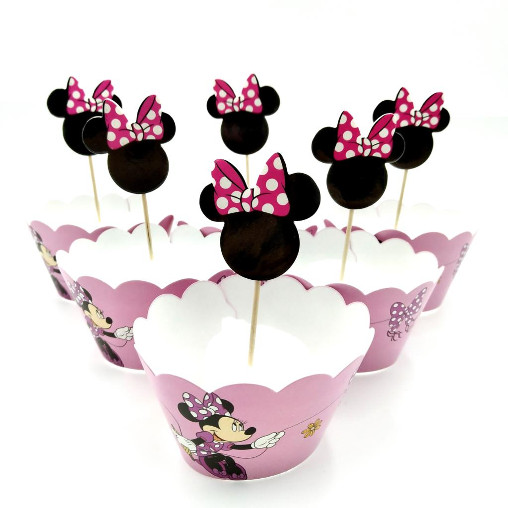 Minnie mouse Birthday Cake Topper Decoration Party Supplies.