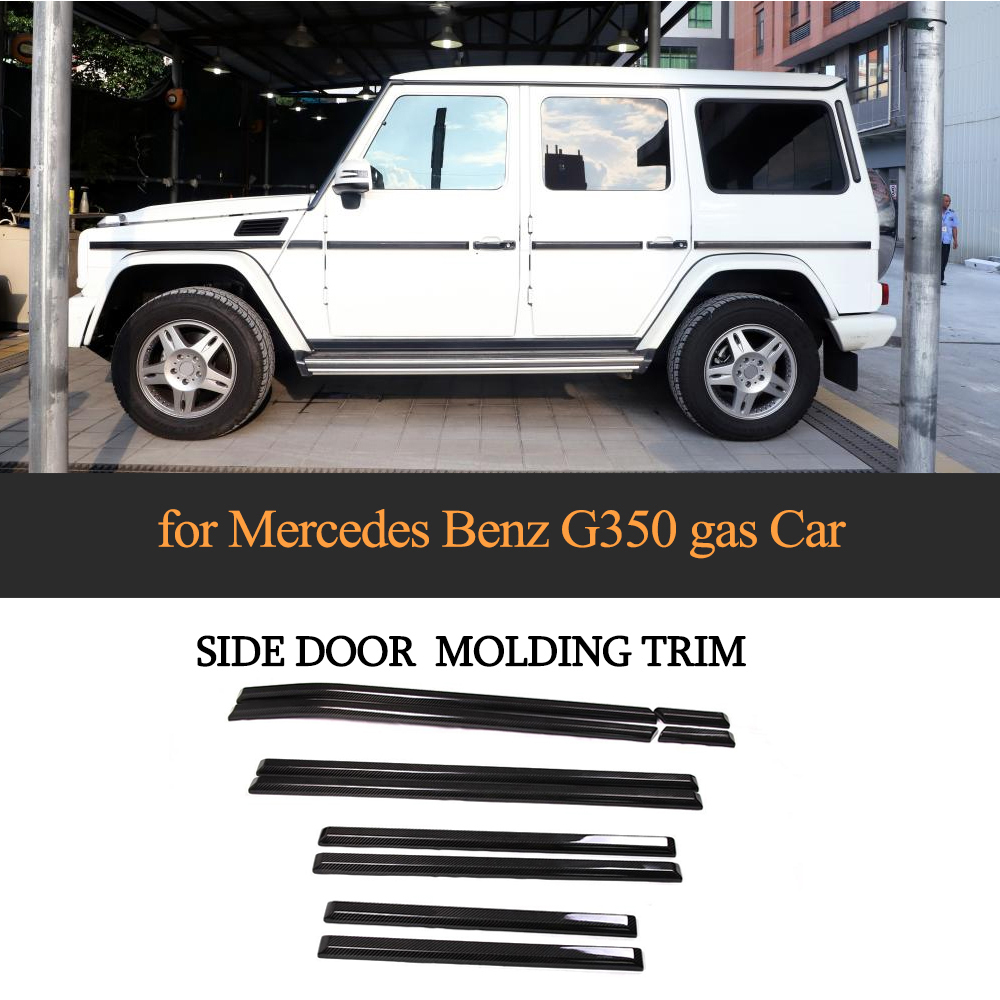 Dry Carbon Fiber Car Body Door Cover Trim Strip for Mecedes Benz G Class G55 All Gasoline Cars and G350 Diesel Cars 2013 2017