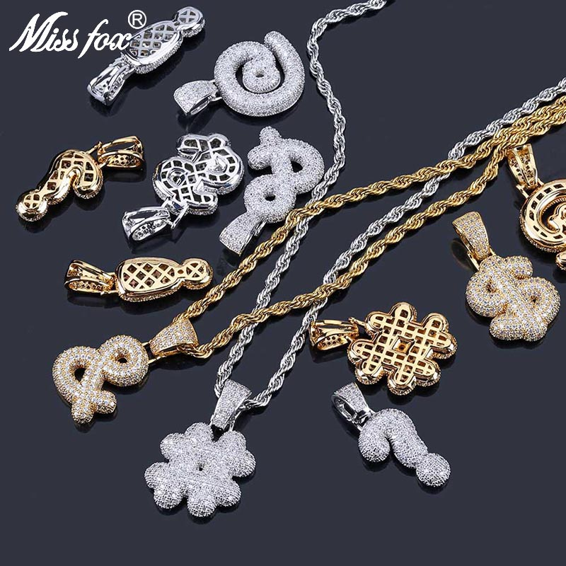 Pendant Necklaces Analytical Missfox Hip Hop & $ @ # Symbol Sorority 24k Gold Plated Aaa Cubic Zirconia Nameplate Initial Letter Long Necklaces Pendants Packing Of Nominated Brand