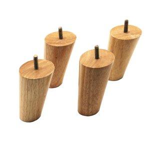 Image 3 - 10 سنتيمتر ارتفاع الخشب اللون المطاط أثاث خشبي الساقين M8 موضوع استبدال لمجلس الوزراء كرسي الأريكة الجدول السرير قدم حزمة من 4