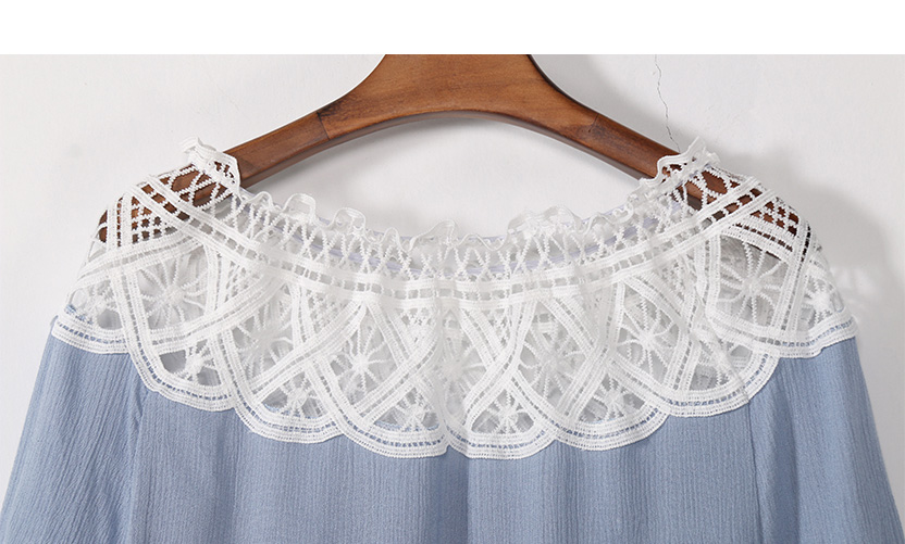 Off Shoulder Sexy Women Blouses White Lace Patchwork 2017 Summer New Arrival Slash Neck Ladies Chiffon Shirts Plus Size Tops 2XL 9