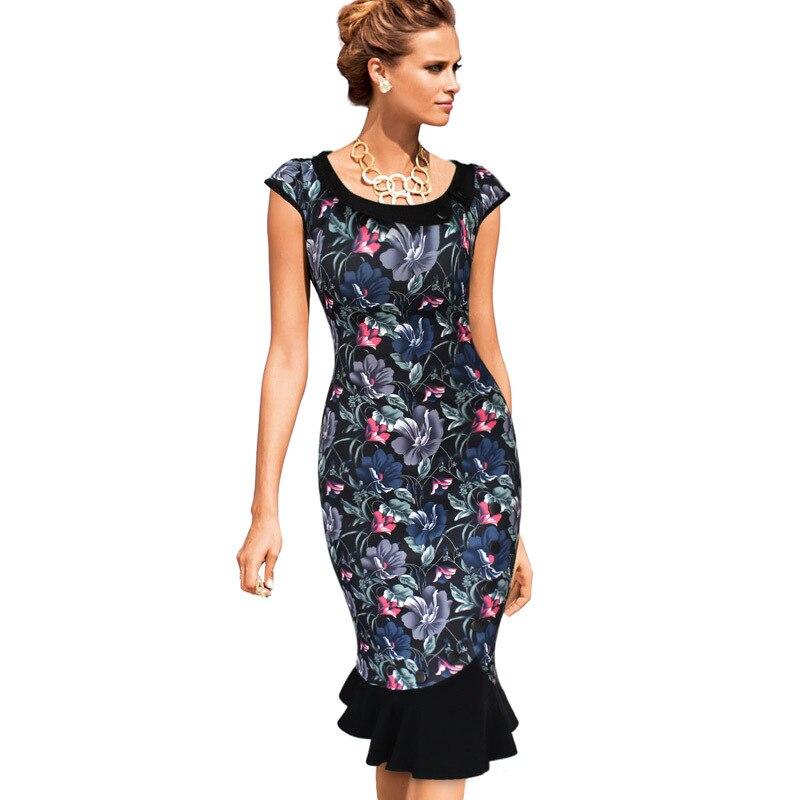 817864a0b ᐂVestido para mujer elegante vintage pinup retro floral Encaje ...