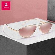 DENISA Vintage Petit Ovale lunettes de Soleil Hommes Femmes 2018 Rétro  Rouge Soleil Lunettes Objectif Clair Lunettes Filles UV40. de8be0c884b0