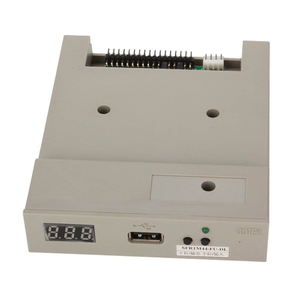 Gray Electronic Organ Floppy Drive Converter Emulator Gotek SFR1M44-FU-DL 3.5 1.44MB Normal version USB SSD FLOPPY DRIVE