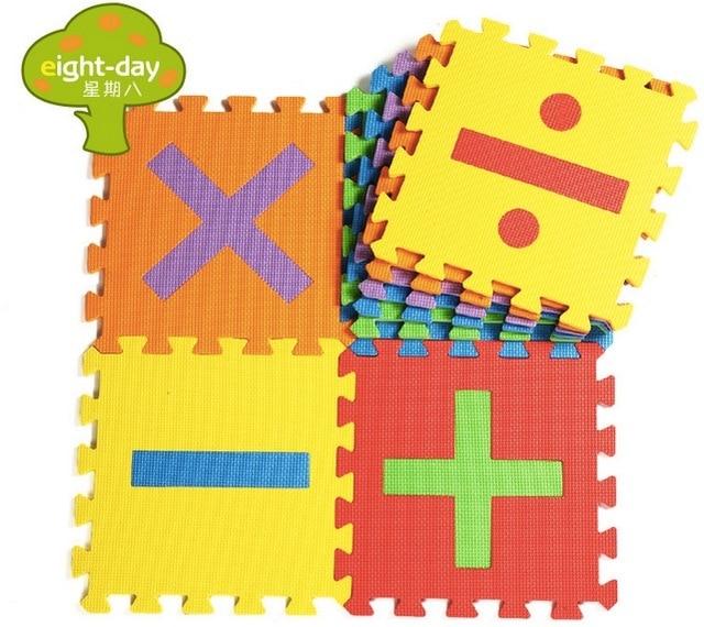 16pcsset eva mat number puzzle carpet baby play mat puzzle baby foam floor mats