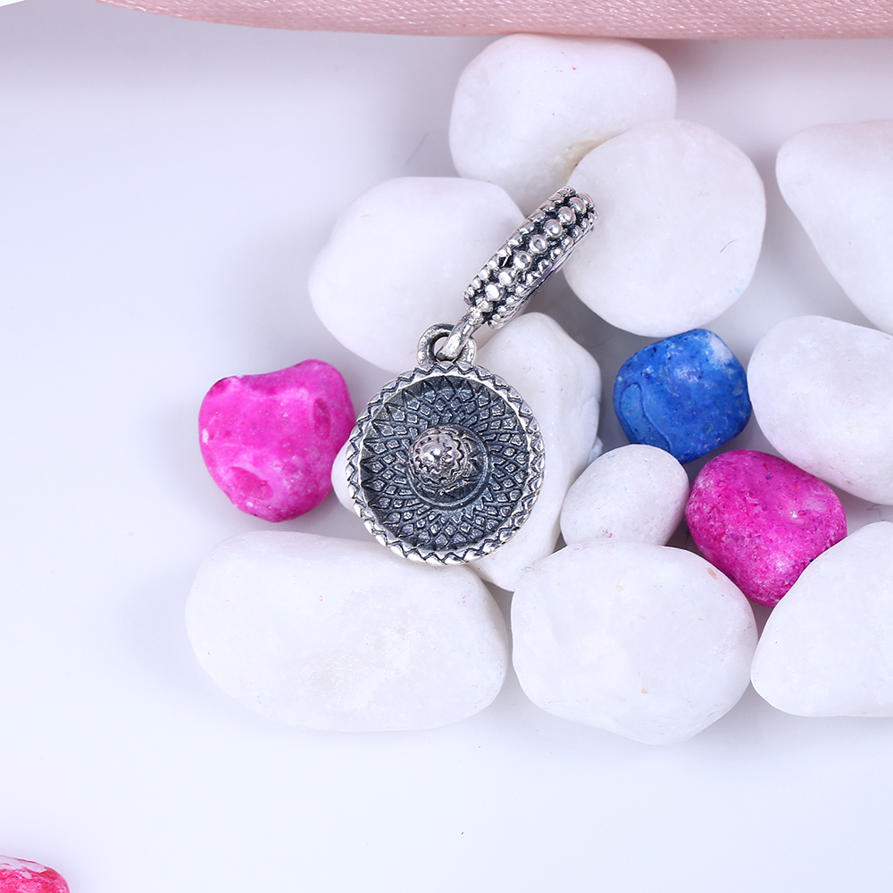 New 100% 925 Sterling Silver Fit Original Pandora Bracelet Sombrero Pendant Charm DIY Charms Beads for Jewelry Making Gift