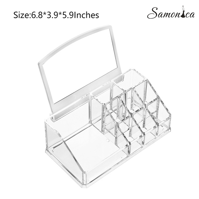 New Acrylic Multi-function Lipstick Eyebrow Pencil Nail Polish Organizer Cosmetics Storage Case Display Stand 17.3x10x15cm
