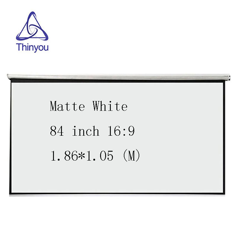 Thinyou 84 pollici 16: 9 HD Proiettore Schermo bianco opaco Manuale Pull Up Diagonal Aspect Ratio 16: 9 per l'ufficio scolastico dell'home cinema