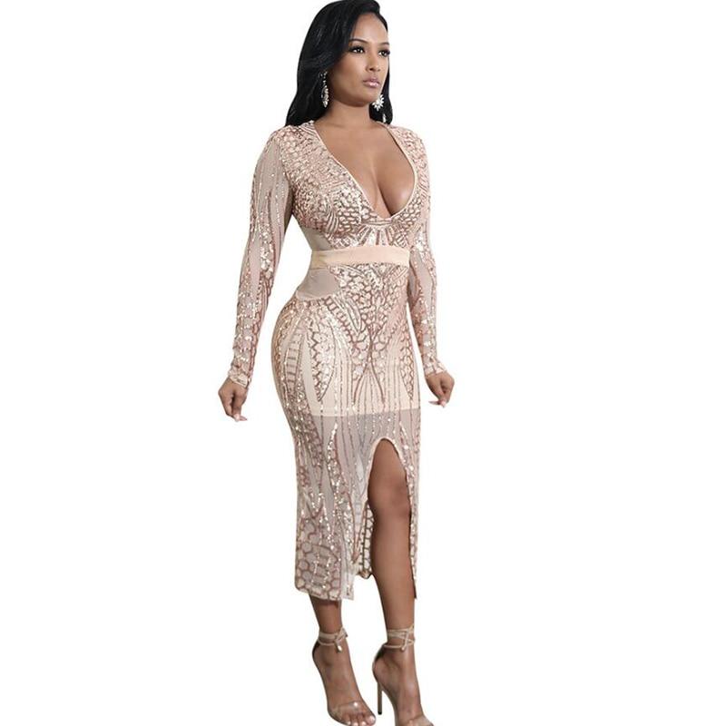 Bodycon midi dress with side split