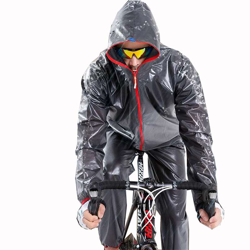 Cycling Sets Outdoor Compressed Waterproof Windproof Suit Bicycle Raincoat Long Sleeve Clothing Men Windshield Bike jerseys H001 extended hong kong style oxford cloth long sleeve raincoat warning reflective waterproof outdoor overalls many pockets printable