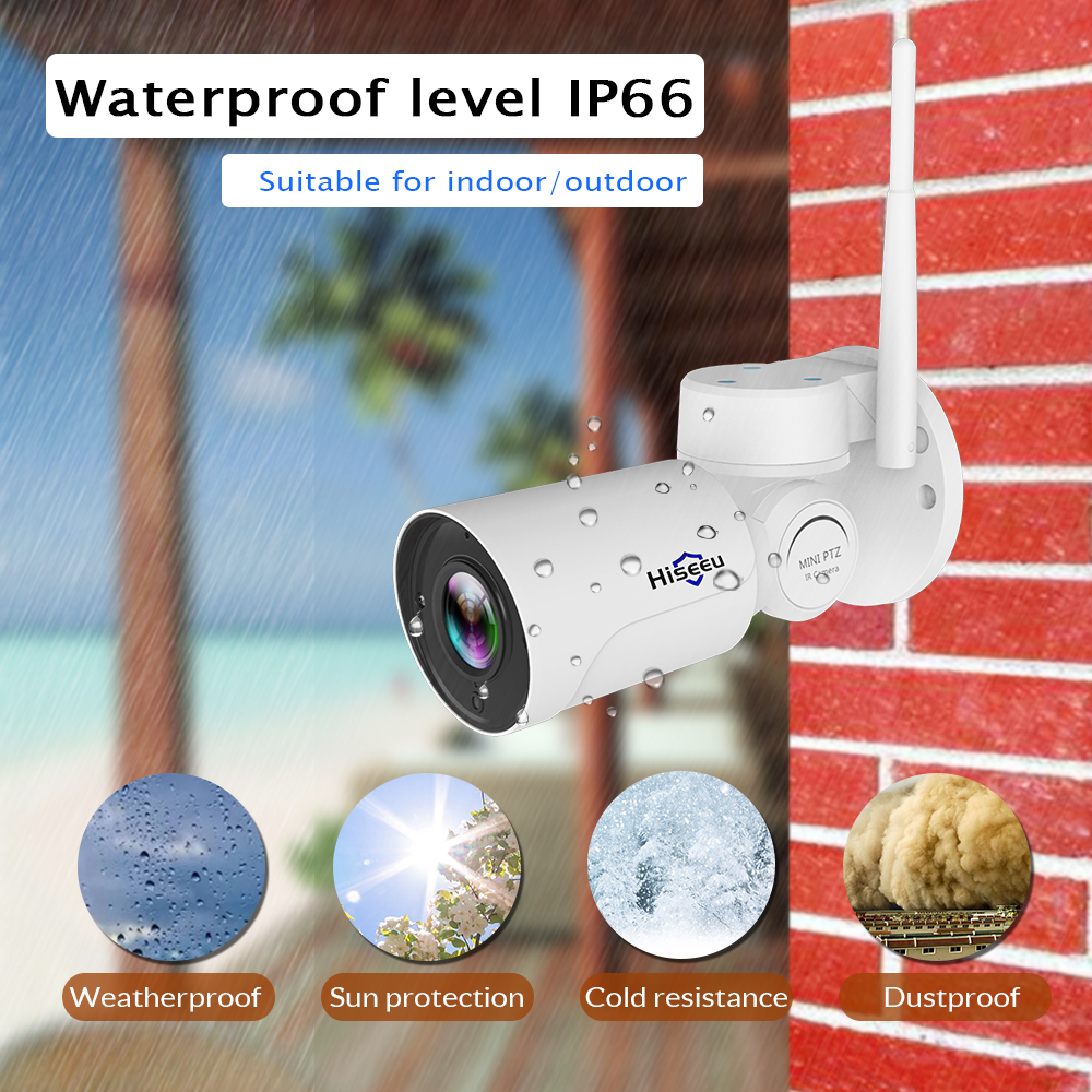 Image 4 - IP Camera wi fi PTZ Bullet 4X Zoom 1080P IP Speed dome CCTV camera Project Night Vision Outdoor Waterproof IP66 IRCUT P2P Hiseeu-in Surveillance Cameras from Security & Protection