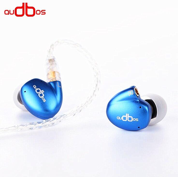Wooeasy AUDBOS DB04 2BA+2DD In Ear Earphone Armature with Dynamic 4 Units Hybrid Headset With MMCX Interface audbos db04 hifi hybrid earphone 2ba 2dd silver plated metal earphone monitor earphone audiophile iem music earbuds