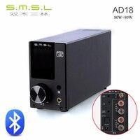 Новые SMSL ad18 80 Вт * 2 DSP Hi Fi Bluetooth чистый цифровой аудио Усилители домашние оптический/коаксиальный USB DAC декодер С Дистанционное управление