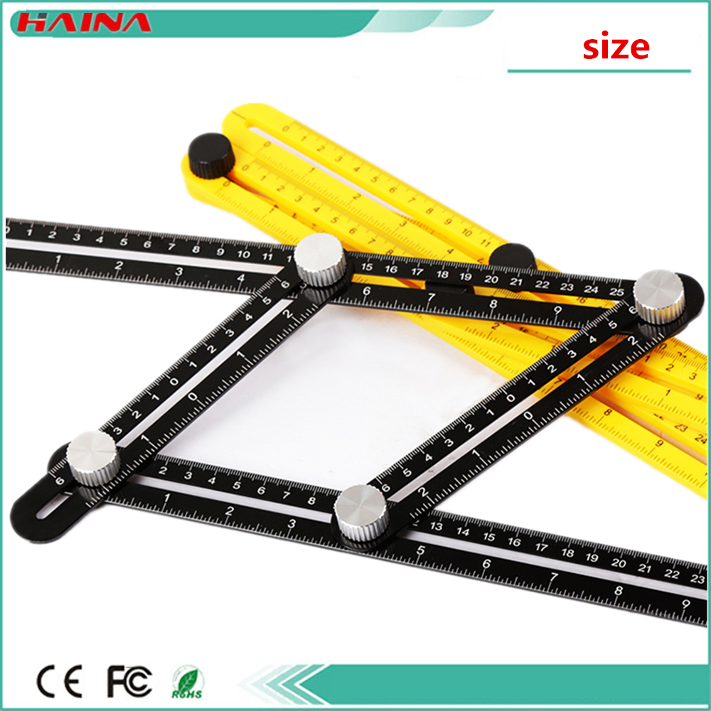 25M*12M With Template Tool Angle Measuring Protractor Multi-Angle Ruler Builders Craftsmen Engineers Layout