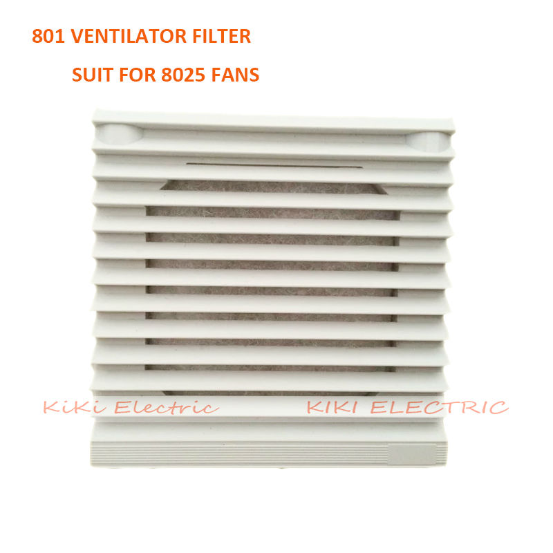 White Plastic FB-801 Window-shades Ventilation Filter , Axial Fan Filter Suit For 80*80mm Fan , Electric Cabinet  Filter Net