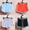 Mulheres Shorts De Algodão de lazer Contraste Encadernação Side Dividir Elastic Cintura Solta Shorts Yo-Ga Curto Feminino SL075