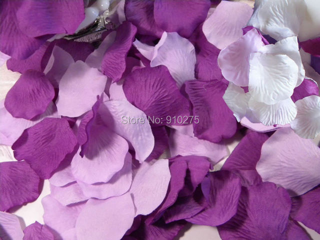 Us 6 99 600 Stucke Gemischt Weiss Lila Lavendel Seide Rosenblatter Hochzeit Mittelstucke Party Dekoration Konfetti Brautdusche Parteibevorzugung