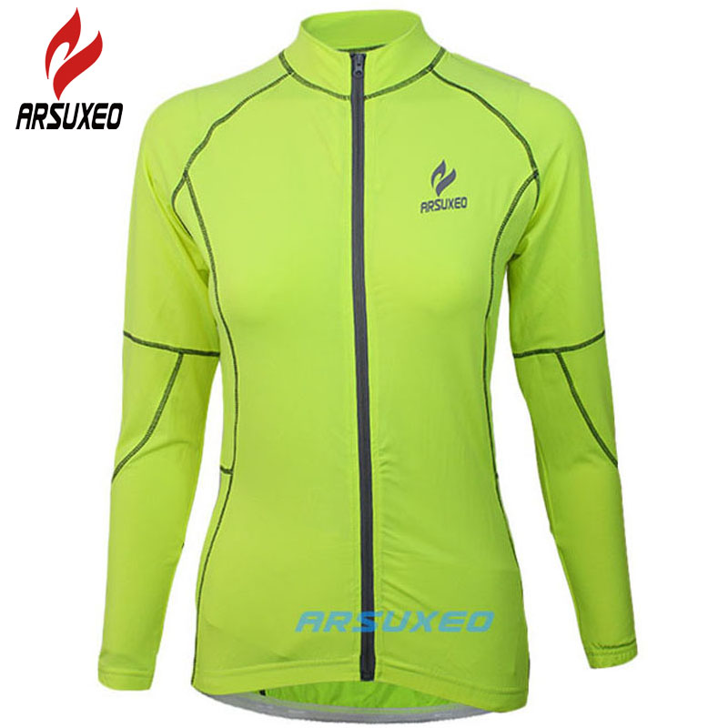 ARSUXEO Cycling Jacket 2017 Men Women MTB Bike Bicycle Motocross Downhill Jersey Basketball Running Clothing Maillot