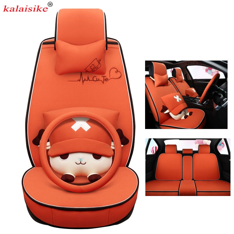 kalaisike flax Universal Car Seat Cover for Hyundai all models i30 ix25 ix35 solaris elantra terracan tucson accent azera lantra