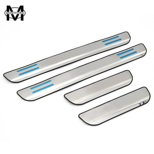 MONTFORD For Mitsubishi Outlander 2013 2014 2015 2016 2017 Stainless Steel Door Sill Protector Pedals Scuff Plate Guards Covers