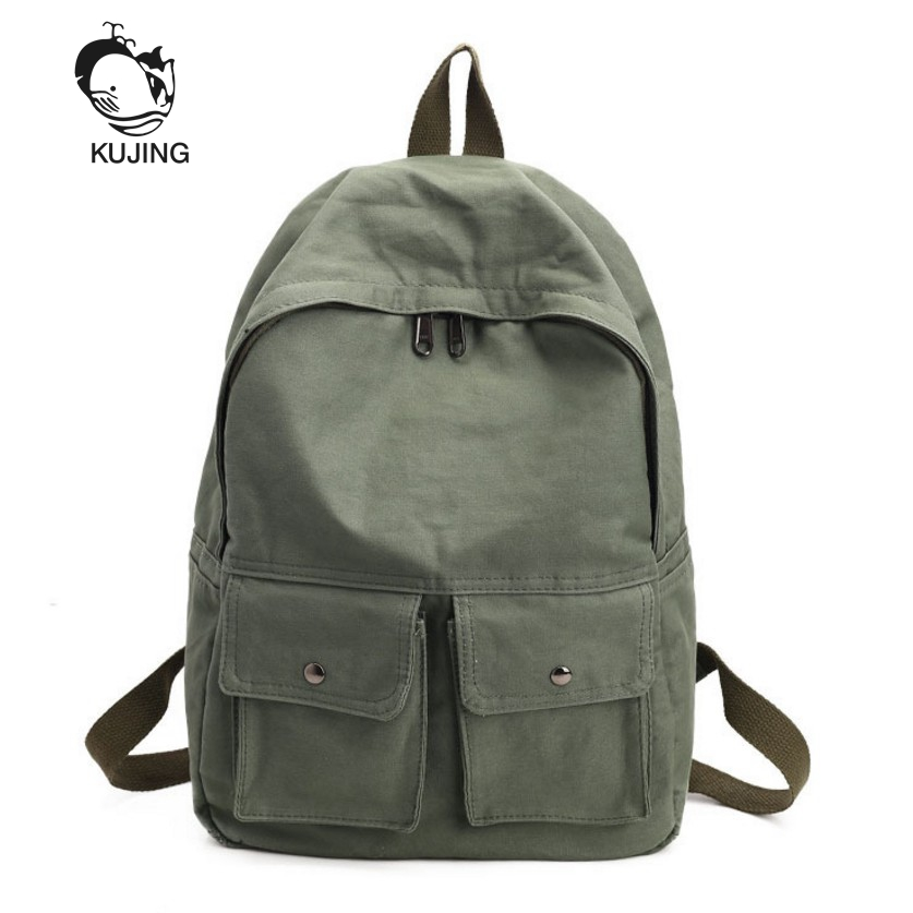 KUJING Women Backpack High-Quality Canvas High-Volume Student Bag Luxury Travel Women Ca ...