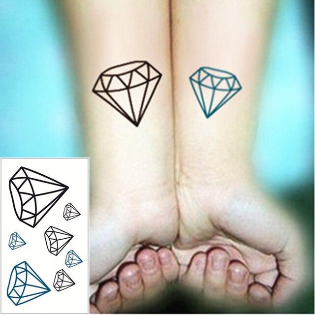 shnapign 24 style mini tatouage temporaire corps art, diamant