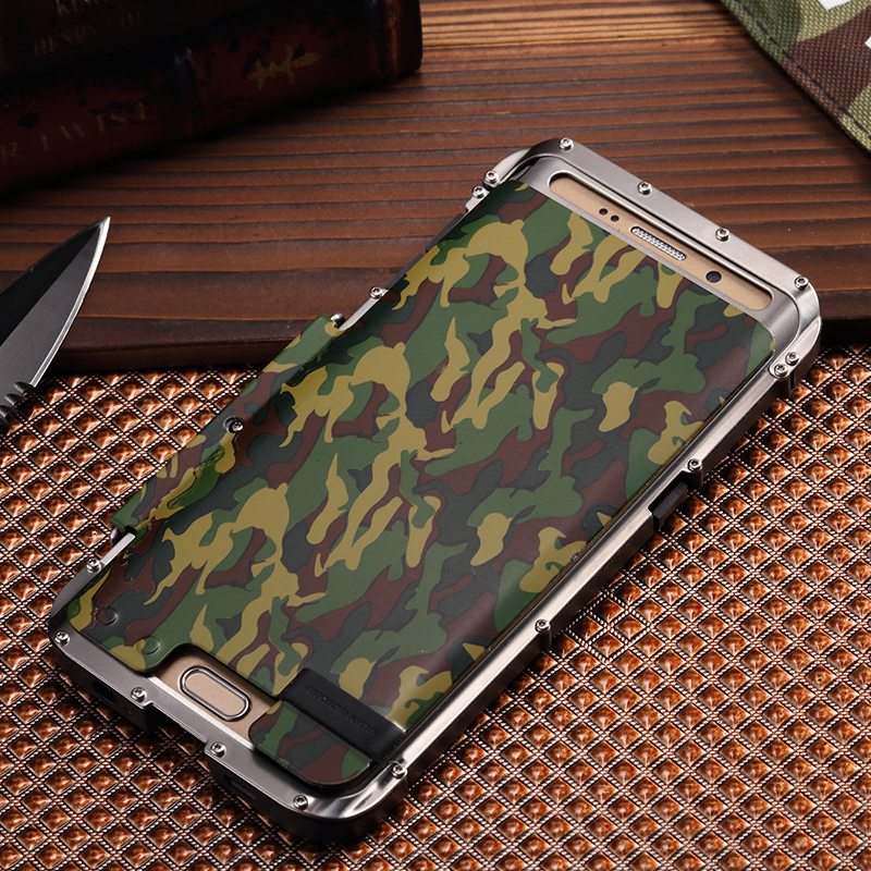 Personality Mechanical Metal Flip Case For Samsung Galaxy S7 Flip Cover S7 Edge Case Kickstand Shell Plastic Hard Case Slim Thin