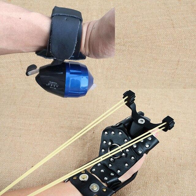 Катапульта Guard лук рыболовные рогатки наручные катушки защитный ремень стрелы для охотничьего лука стрельба защитные перчатки Левая Правая рука