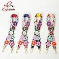 Colorful flowers rivet luxury snake stripe hit color handbags belts women bags strap women bag accessory bags parts pu leather