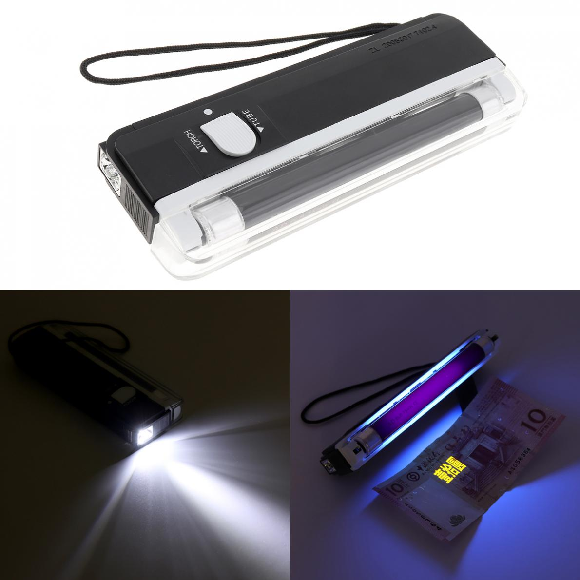 Portable UV Black Light Money LED Light Detector Blacklight Torch Lamp Light Blacklight Party Stage Pet Money Verify