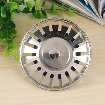 Waste Stainless Steel Sink Strainer Plug Drain Stopper Filter Basket Kitchen