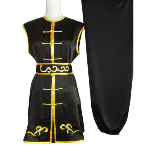 Customize Chinese Nanquan Wushu Uniform Changquan Collarless Suits for Men and Women Child Roupa De Kung Fu Embroidered CostumeCustomize Chinese Nanquan Wushu Uniform Changquan Collarless Suits for Men and Women Child Roupa De Kung Fu Embroidered Costume