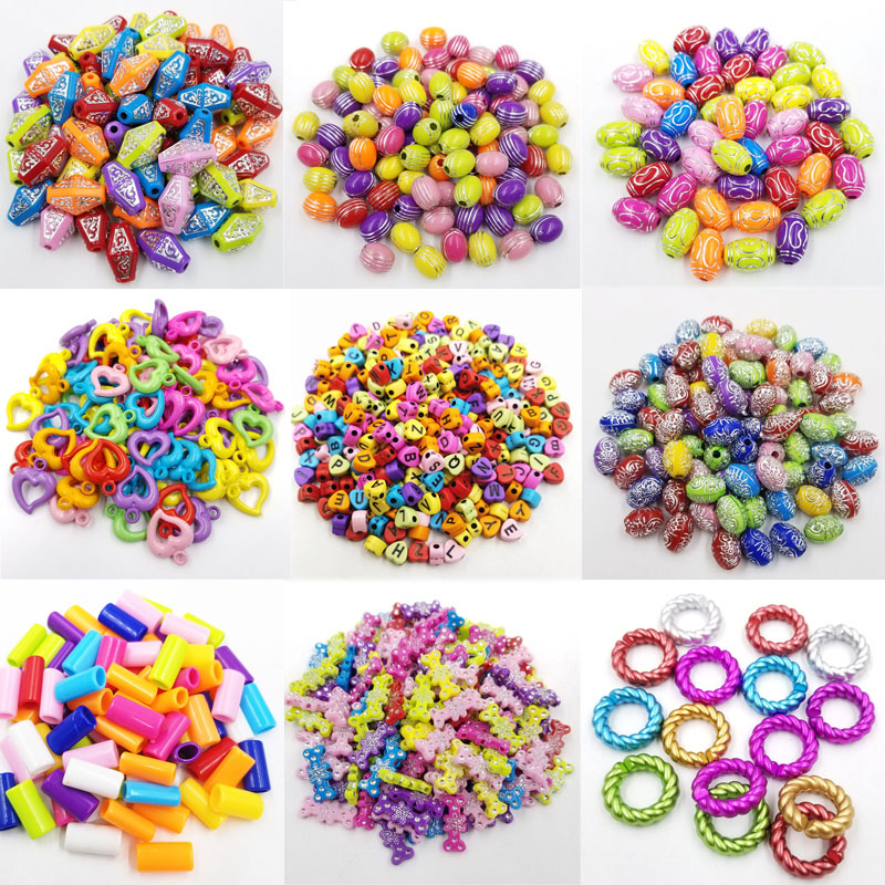 LNRRABC Necklace Jewelry making Loose Hot Sale DIY Beads Fashion Acrylic For Jewelry Findings Bracelet Colours Earrings 1Set in Jewelry Findings Components from Jewelry Accessories