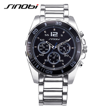 Sinobi relógios homens de negócios à prova d' água homens relógio de quartzo-relógio da liga banda montre homme masculino escritório relogios masculino 2017 l17