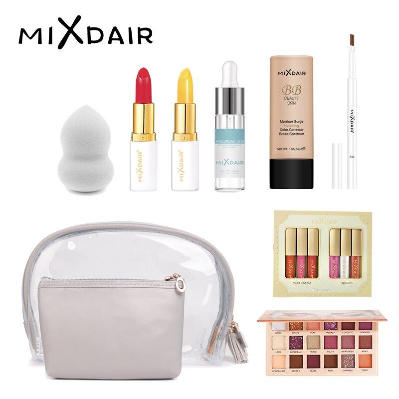 MIXDAIR Platinum ensemble de maquillage 9 pièces rouge à lèvres en poudre